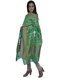 Talking Threads Women's Dupatta (TT-11731DUBNSKW_Green_Free Size)