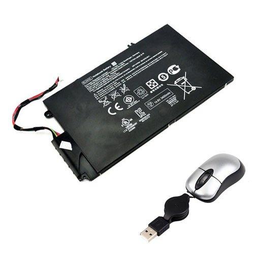 Amsahr EL04XL-05 - Batería de reemplazo para HP EL04XL, HP Envy 4-1061TX, Envy 4-1064TX, Envy 4-1152ER (Incluye Mini ratón óptico) Color Gris