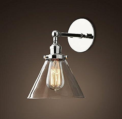 Saint Mossi Métal Vintage Applique Réglable Murale Industrial Lampe contemporaine en verre contemporaine Sconce Edison Culot E27 Luminaires