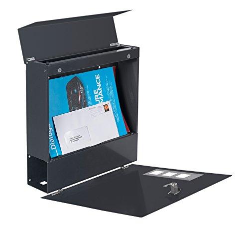 Frabox Design Briefkasten NAMUR EXKLUSIV Stahl lackiert, RAL 7016 Anthrazitgrau - 8