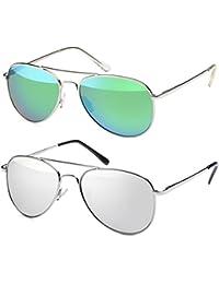 Hatstar Pilotenbrille Verspiegelt Fliegerbrille Sonnenbrille Pornobrille Brille mit Federscharnier (95 BujDRR