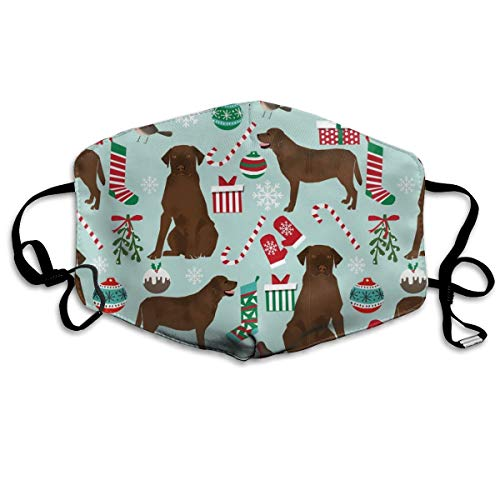 Chocolate Lab Christmas Cute Chocolate Lab Design Best Labrador for Sewing Cute Labrador s Anti-dust Cotton Mouth Face Masks Reusable for Outdoor Half Face Masks Electronic Lab-kit