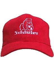 Schlüter | Oldtimer-Kappe | Schwarz oder Rot | Zweifarbiges Stickmotiv