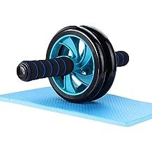 Mitavo AB Roller, AB Wheel, Rueda para abdomen con alfombrilla para las rodillas para fitness y trabajar los músculos del abdomen/los hombros/los muslos de manera eficiente.