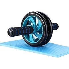 Idea Regalo - AB Roller Mitavo, Ab Wheel, ruota per addominali con supporto per ginocchia, per il fintess e un allenamento efficace di muscoli addominali, muscoli delle spalle e cosce.