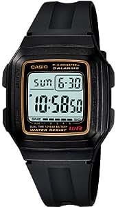 Casio f-201W-9audf (D030) D030(D030)–Montre de Poignet pour homme, bracelet en résine