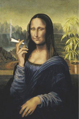 Mona (lisa fumándose un porro) Póster