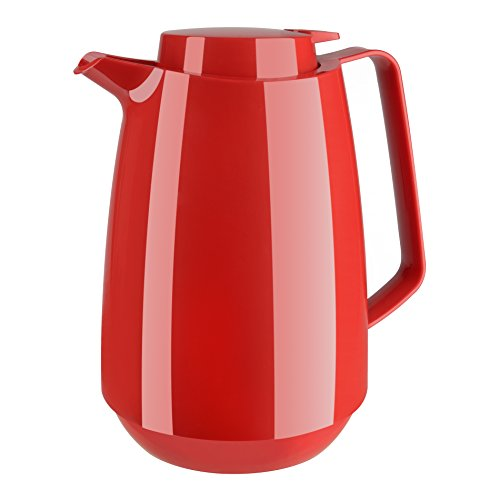 Emsa 515844 Isolierkanne momento coffee, 1 L, 100 % dicht, 12 Standard heiß/24 kalt, rot