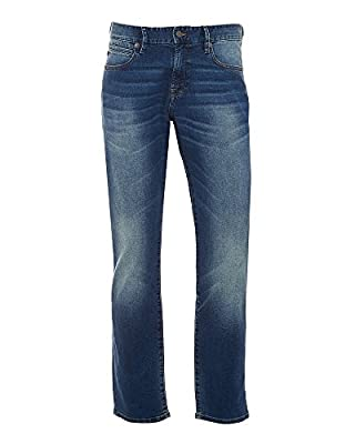 Hugo Boss Orange Mens 24 Barcelona Jump Jeans, Dark Voice Wash Denim