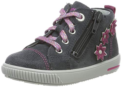 Superfit Baby Mädchen Moppy Sneaker, Grau/Rosa 20, 22 EU
