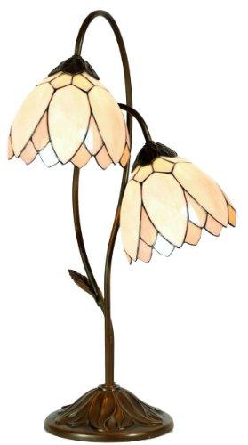 Lumilamp Tiffany Lampe, Tischleuchte, Buro Leuchte, Glas, Mehrfarbig, 33 x 61 cm - Tiffany-art-glas-tisch-lampe