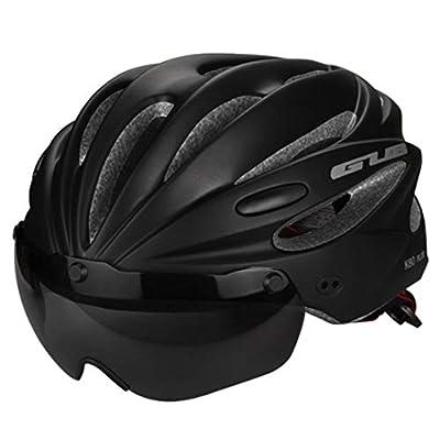 OLEEKA Bike Cycle Helmet, Men Women Cycle Helmet with Magnetic Goggles and Lens, Black/Red/Blue/Green/Grey Adjustable Lightweight Helmet by OLEEKA
