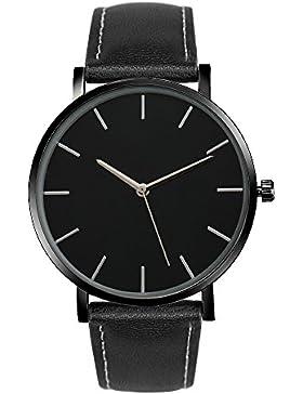 Frauen Armbanduhr, rawdah Quarz Leder Band Handgelenk Uhren BK