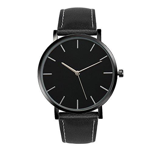 Frauen Armbanduhr, rawdah Quarz Leder Band Handgelenk Uhren BK (Coach Glas-fall)