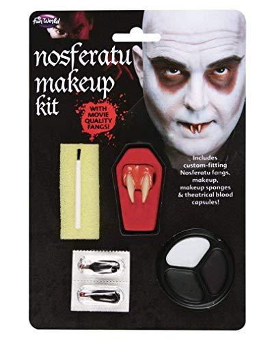 Vampire Make Up Kit & Dents d'angle Argent Economy