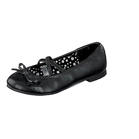 Indigo 422 283 Mädchen Ballerinas geschlossen black mit Schleife (35, black)