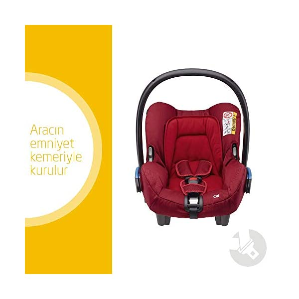 Maxi-Cosi Kinderautositz Citi Robin Red Maxi-Cosi Side protection system, guarantees optimal protection in the event of a side impact Lightweight, light weight and ergonomically shaped safety bar for use as carrying handle Practical travel system 2