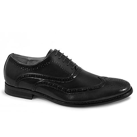 5 Eye Brogue Oxford Shoe - Black - Black - size UK Mens Size 11