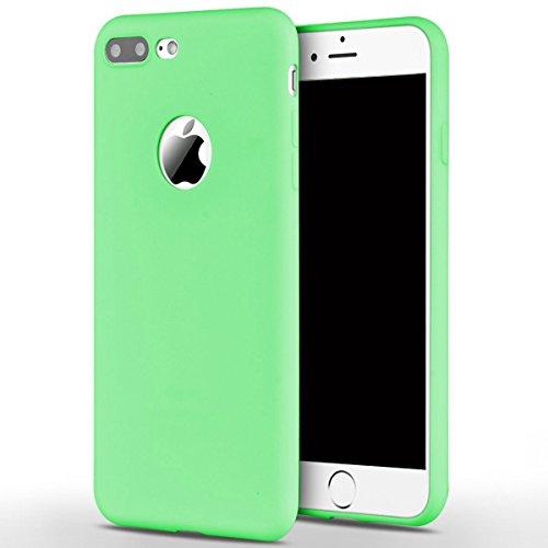 Cover iPhone 7 Plus (5.5),ToDo iPhone 7 Plus Custodia Silicone Ultra Morbido Satinate Opaco Ultra Sottile TPU Flessibile Gomma Cassa Protettiva Gel [Anti-scivolo] [Anti-Graffio] [Antiurto] Leggero Ce Caramella verde