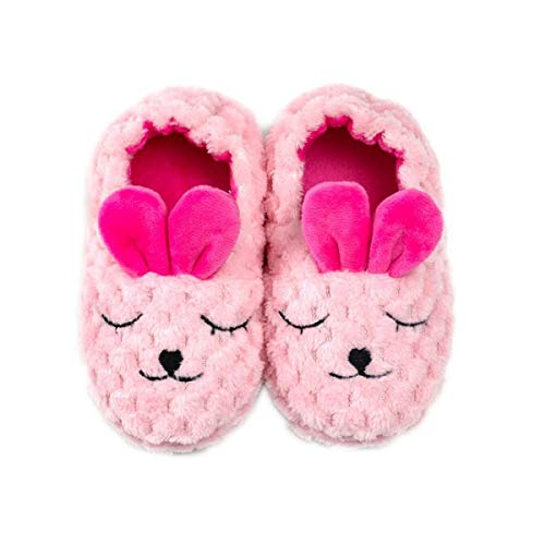 Ruiqas Toddler Girls Bunny Slippers Kids Winter Warm Anti-Skid Slippers