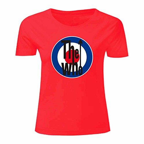 Art T-shirt, Maglietta The Who, Donna Rosso