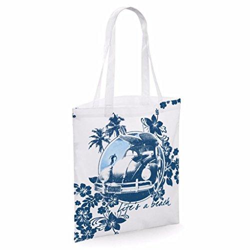 Tote bag pour femme Imprimé Life's A Beach imprimé sac épaule sacs en toile