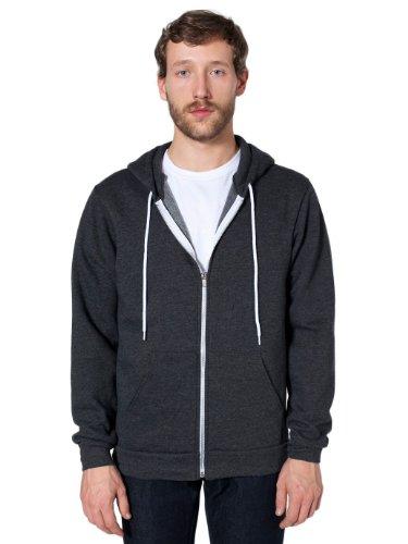 american-apparel-sudadera-con-capucha-vestir-para-mujer-gris-oscuro-heather-gris-x-large