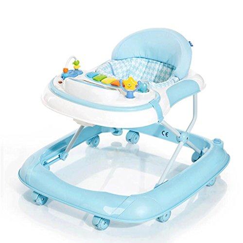 Passeggino Anti-ribaltamento Carrello Per Bambini Multifunzionale Per Bambini 6/7-18 Mesi Baby Learn To Walk Girello Per Bambin GAOLILI (Colore : Blu)