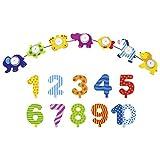 Die LuLuGoS Goki Geburtstagszug Tierparade Geburtstagskette Tier Kette mit Zahlen 1-10