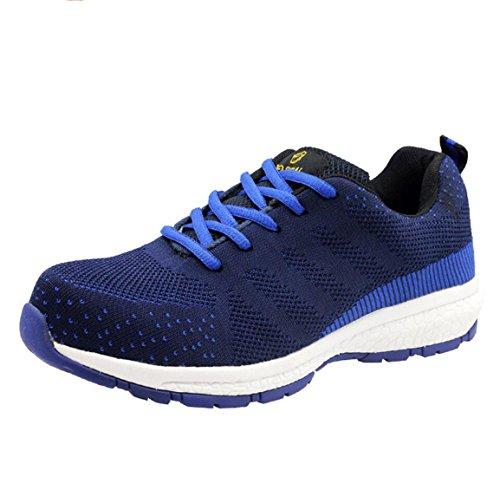 Deodorant Stahl Zehe Sportschuhe, Sork Schuhe, Arbeitsversicherung Sicherheitsschuhe für Männer,Blue,43 (Stahl Für Zehen Sneakers Männer Schuhe)