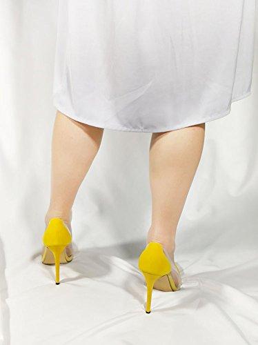 Il Scamosciata A Donna Punta Sexy Talloni Colore Di Tacco 11 Pelle Centimetri Sera A Dopo Giallo Spillo In Matrimonio Wealsex qYpY4axwI6