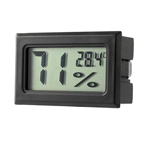 WEIWEITOE Professionelle Mini Digital LCD Thermometer Hygrometer Luftfeuchtigkeit Temperatur Meter Indoor Digital LCD Display Sensor, schwarz,