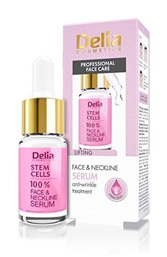 Delia Cosmetics Traitement anti-rides et lifting avec cellule mère de Delia, pour tous types de peaux, 100% liquide pour visage et cou, sans parabènes