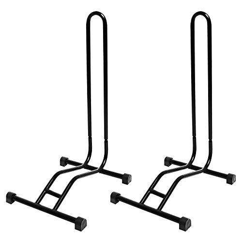 2 x WELLGRO® Fahrradständer - Stahl, sicherer Stand - Farbe schwarz