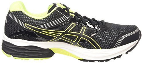 Asics Gel-Pulse 7, Chaussures de Running Compétition Homme Noir (black/flash yellow/silver 9007)