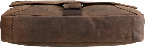 Strellson Hunter Messenger LH 4010000189 Herren Messengertaschen 39x31x9 cm (B x H x T), Braun (dark brown 702) Braun (dark brown 702)