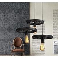 SBWYLT-Lampadario industriale dell'annata, lOFT ristorante e bar bar, lampada di negozio abbigliamento firmato caffetteria - Antico Firmato