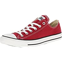 Converse Chuck Taylor All Star Lo Top Jester Red Canvas Shoes 136506F Mens 7/ womens 9
