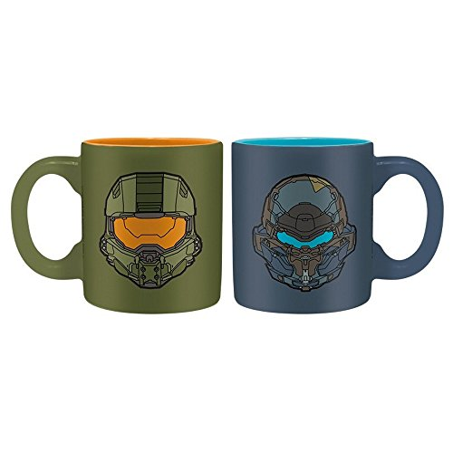 Halo 5 - Mini Tassen 2er Set - 110ml - Master Chief Vs Locke (Helm Master Chief Kostüm)