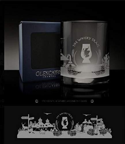 Glencairn The Whisky Trail Skyline Whisky Spirit Boîte de présentation en verre de cristal 275 ml