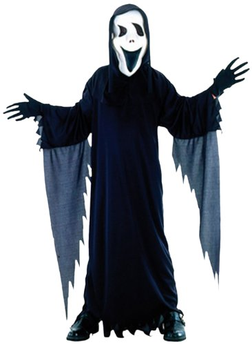 Boland 86796 - Kinderkostüm Horror Halloween Dämon mit Scream Maske, 4 - 6 (Scream 4 Kostüm)