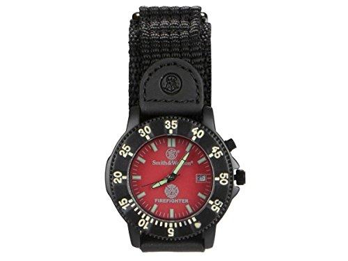 SMITH & WESSON Fire Fighter Armbanduhr 4cm Herrenuhr Datumanzeige Nylon Armband -