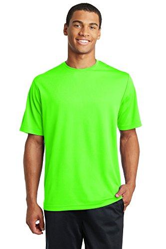 Sport-Tek PosiCharge RacerMesh Tee>L Neon Green ST340