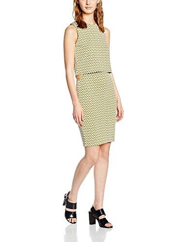 Vero Moda 10156621 - Robe Multicolore (Snow White w. Plantation), Taille 40 (Herstellergröße: L)
