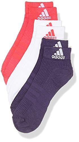 adidas Erwachsene 3 Stripes Performance Ankle Hc 3 Pair Socken, Real Pink/White/Trace Purple, EU 39-42