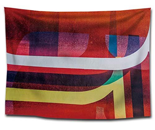 MRR Tapisserie Murale Tapisserie en Tissu Art Tenture Murale Mandala Bohemian Geometry Tapisseries psychédéliques pour dortoir, Chambre à Coucher, Porte, décoration de la Chambre,F,51''*60''