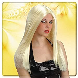Carnival Toys Top Girl Rubia de Val Peluca Mujer Larga Lisa Party 776,, 8004761025618