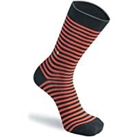 The Moja Club Men's Socks - Red Stripes (Black and Red, Free Size)