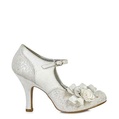 Ruby Shoo assorti Emily Chaussures et sac Londres silver