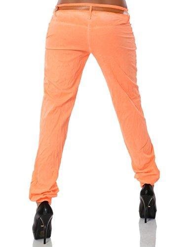 Damen Chino Pumphose inkl. Gürtel (weitere Farben) No 13312 Orange